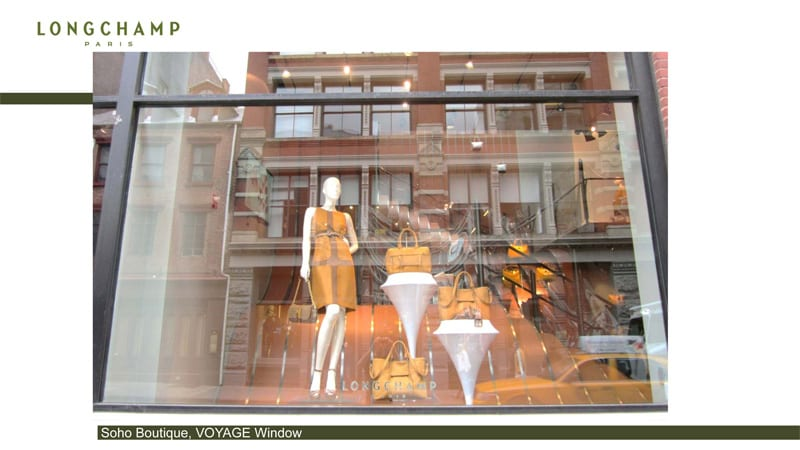 Decor Vitrine Boutique Soho New York - Longchamp