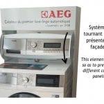 Meuble Lavelinge AEG - Système tourniqjuet